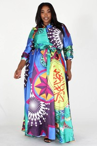 MULTICOLOR LONG DRESS
